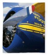 Big Foot Biplane Fleece Blanket