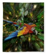 Big Glider Macaw Digital Art Fleece Blanket
