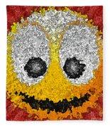 Big Happy Smile Fleece Blanket