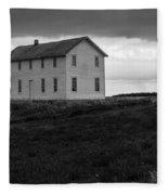 Big House In A Storm Fleece Blanket