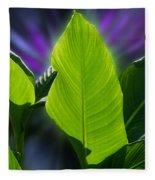 Big Leaves Fleece Blanket