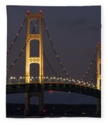 Big Mackinac Bridge 55 Fleece Blanket