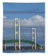 Big Mackinac Bridge 59 Fleece Blanket