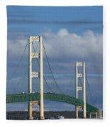 Big Mackinac Bridge 61 Fleece Blanket
