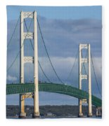 Big Mackinac Bridge 63 Fleece Blanket