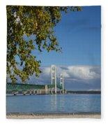 Big Mackinac Bridge 68 Fleece Blanket