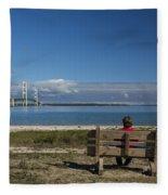 Big Mackinac Bridge 69 Fleece Blanket
