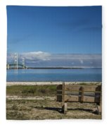 Big Mackinac Bridge 70 Fleece Blanket