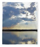 Big Marsh Sunset Fleece Blanket