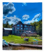 Big Moose Inn - Eagle Bay New York Fleece Blanket