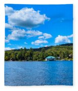 Big Moose Lake In The Adirondacks Fleece Blanket