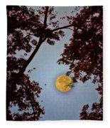 Big Old Autumn Moon Fleece Blanket