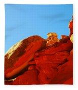 Big Orange Rock Fleece Blanket