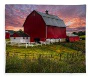 Big Red At Sunset Fleece Blanket