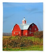 Big Red Barn Fleece Blanket