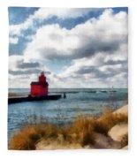 Big Red Big Wind Fleece Blanket