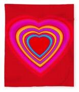 Big Red Love Fleece Blanket