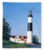 Big Sable Lighthouse Fleece Blanket