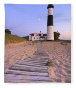 Big Sable Point Lighthouse Fleece Blanket