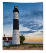 Big Sable Point Lighthouse Sunset Fleece Blanket