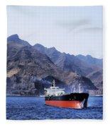 Big Ship Non Atlantic Ocean Fleece Blanket