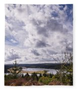 Big Sky At Kielder Fleece Blanket