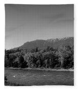 Big Sky Country Montana Bw Fleece Blanket