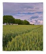 Big Sky Montana Wheat Field  Fleece Blanket