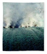 Big Splash Of Mammoth Springs Dam Fleece Blanket