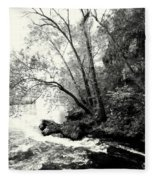 Big Spring In B And W Fleece Blanket