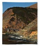 Big Sur Bridge Fleece Blanket