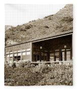 Big Sur Hot Springs Now The Esalen Institute California Circa 1961 Fleece Blanket