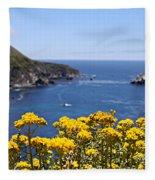 Big Sur Loves Yellow By Diana Sainz Fleece Blanket