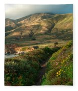 Big Sur Trail At Soberanes Point Fleece Blanket