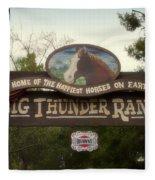 Big Thunder Ranch Signage Frontierland Disneyland Fleece Blanket