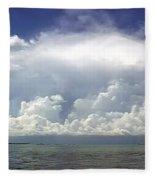 Big Thunderstorm Over The Bay Fleece Blanket