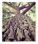 Big Tree Bark Fleece Blanket