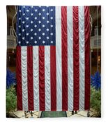 Big Usa Flag 2 Fleece Blanket