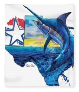 Bigger In Texas Fleece Blanket