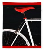 Bike In Black White And Red No 1 Fleece Blanket