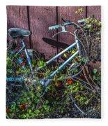 Bike In The Vines Fleece Blanket