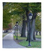 Bike Path Along Kelly Drive Fleece Blanket