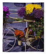 Bike Planter Fleece Blanket
