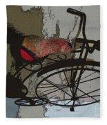 Bike Seat View Fleece Blanket