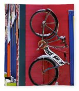 Bike Shop Fleece Blanket