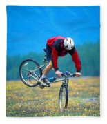 Bike Stunt Fleece Blanket