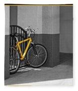 Bike With Frame Fleece Blanket