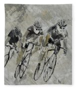 Bikes In The Rain Fleece Blanket