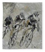 Bikes In The Rain Fleece Blanket
