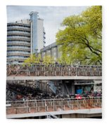 Bikes Parking In Amsterdam Fleece Blanket
